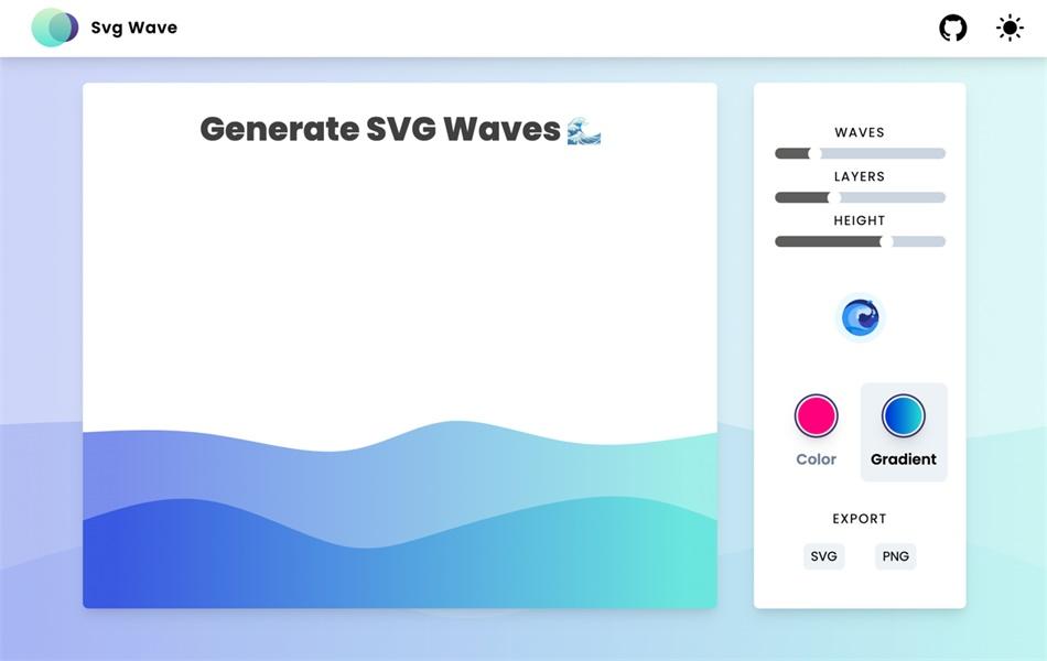 一键生成渐变波浪图案,这个工具你值得拥有